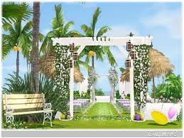 wedding arches in sims 3 tugmel s wedding place furnished