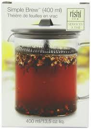 rishi tea simple brew loose leaf teapot 13 5 ounces 400ml