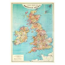 Medieval England Map by Map Of The British Isles Wrapping Paper National Gallery Shop