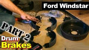 2002 ford windstar rear brake hardware part 2 youtube