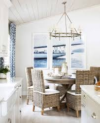 Nautical Dining Room Nautical Living With Navy Blue White Textures Rattan