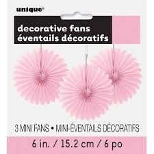 paper fans decorations tissue paper fan decorations 6 in light pink 3ct walmart