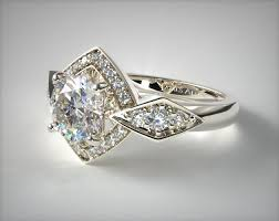 ring ring art deco engagement rings orange blossom carat diamond
