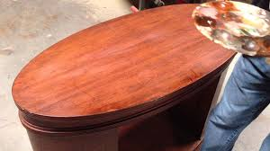 how to touch up a scratch on a dining room table youtube