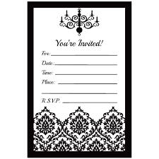 black and white birthday invitations kawaiitheo com