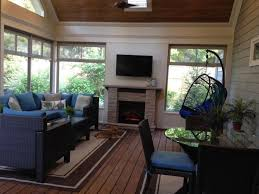 Screen Porch Fireplace by 36 Best Screened Porch Images On Pinterest Screened Porches 3