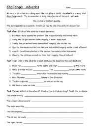 Adjectives And Adverbs Worksheet Adverbs Worksheet Challenge Year 3 By Jemz09 Teaching