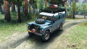 land rover mod land rover defender series iii v2 2 blue for spin tires