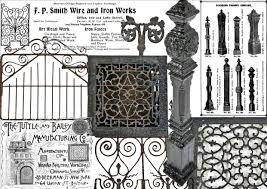 sizable collection of chicago style cast iron newel posts
