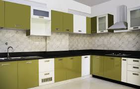 Red Gloss Kitchen Cabinets Living Interesting Modular Kitchen Design Ideas With L Shape