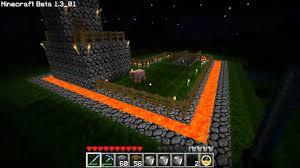 minecraft lava moat youtube