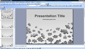 Puzzle Powerpoint Templates Puzzle Powerpoint Template Free