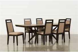 spencer 7 piece rectangle dining set w uph chair living spaces