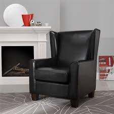 Black Leather Accent Chair Furniture Elegant Leather Wingback Chair For Home Furniture Ideas