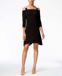 msk cold shoulder shift dress dresses women macy u0027s