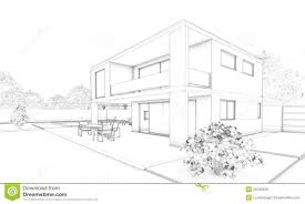 sketch of top ten modern popular modern home architecture sketches with royalty free stock