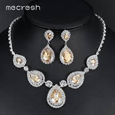 engagement jewelry sets online shop mecresh silver color teardrop bridal jewelry sets