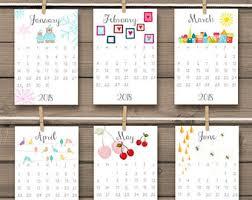 Small Easel Desk Calendar 4x6 Desk Calendar Etsy