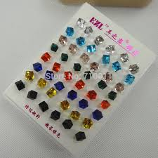 plastic stud earrings aliexpress buy free shipping wholesale 4mm 6mm colour