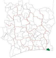Ivory Coast Map Adiaké Departement U2013 Wikipedia