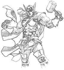 Thor 96 Superhéros  Coloriages à imprimer