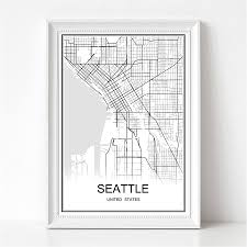 Seattle On Map by Map Seattle Promotion Shop For Promotional Map Seattle On