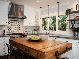 kitchen with butcher block island rustic butcher block island cabinets beds sofas and morecabinets