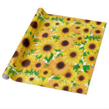 sunflower wrapping paper sunflower paper wrapping paper zazzle