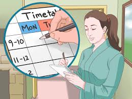 How To Do A Simple Spreadsheet How To Make A Timetable 15 Steps With Pictures Wikihow