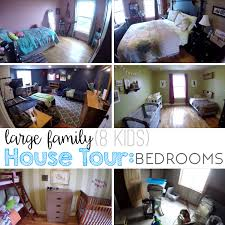 large family home tour bedrooms