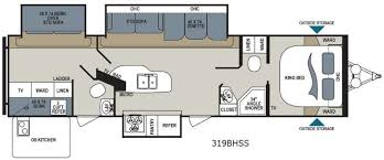 Bunkhouse Trailer Floor Plans Aerolite Travel Trailer Rv Sales 1 Floorplan