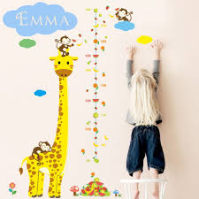 popular kids wall chart buy cheap kids wall chart lots from china customized kids name wall stickers giraffe height chart wall decors creative cartoon decorative wall decals