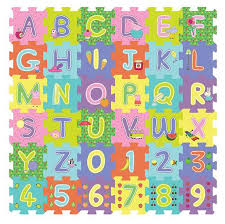 peppa pig abc and 123 foam floor cube puzzle 36 piece toys