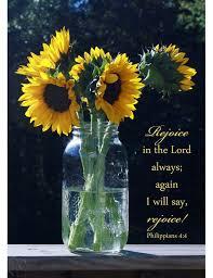 Christian Home Decor Sunflower Decor Philippians 4 4 Rejoice In The Lord Christian Aftcra