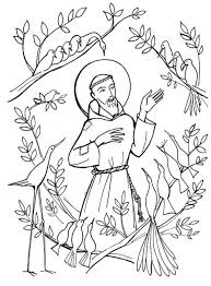 coloring st francis of assisi coloring page