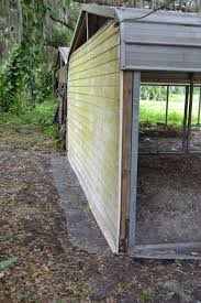 carports attached to house carport to coop run conversion backyard chickens