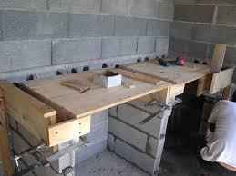 faire plan de travail cuisine plan cuisine d t fashion designs de travail exterieur en beton with