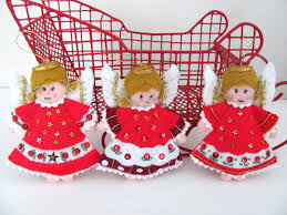 vintage christmas angel ornaments bucilla felt angel