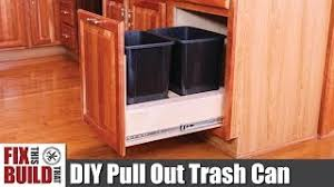 how to turn a base cabinet into a kitchen island diy pull out trash can in a kitchen cabinet how to