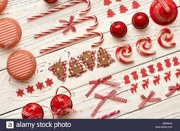 christmas homemade decoration flat lay stock photo royalty free