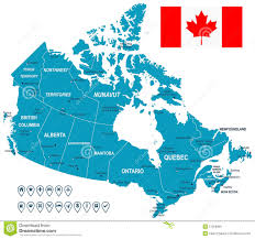 Map Of Canada by Canada Map Flag And Navigation Labels Illustration Stock