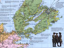 Map Of Nova Scotia More Detailed Map Showing Isle Madame And Lennox Passage And A