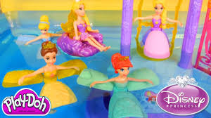 disney princess water palace playset ariel cinderella belle