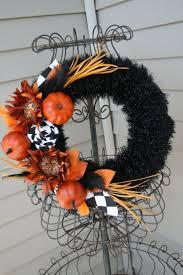 139 best halloween wreath u0026 arrangement images on pinterest