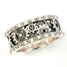 gear wedding ring best 25 gear ring ideas on steunk rings
