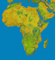 Physical Africa Map by Impressum