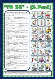 english worksheet verb u201cto be u201d past simple affirmative
