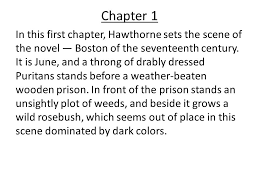 the scarlet letter chapter summaries ppt