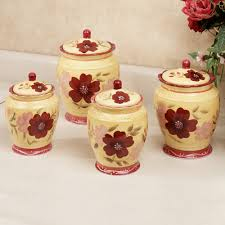 red and black kitchen canisters voluptuo us kitchen red ceramic canister sets for kitchen accessories ideas