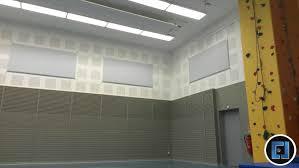 panneaux acoustiques bois bois ajouré acoustique gymnase la providence5 photo de